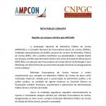 Nota conjunta AMPCON – CNPGC